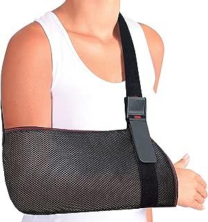 ORTONYX Mesh Arm Support Sling Shoulder Immobilizer Brace – Breathable and Lightweight – Fully Adjustable - L-XXL Black