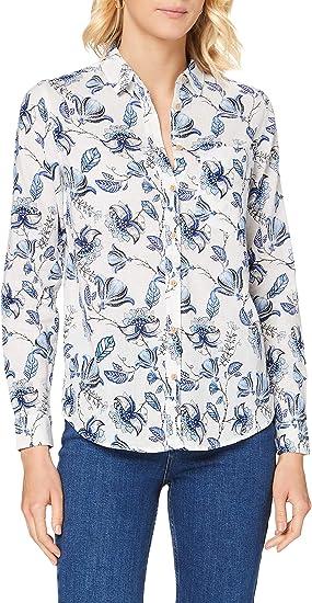 Springfield Camisa M/L Lino Blusa para Mujer