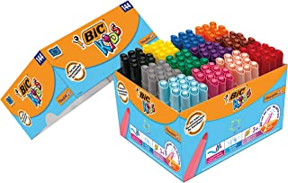 BIC Kids Visacolor XL Feutres de Coloriage à Pointe Large - Couleurs Assorties, Classpack de 144