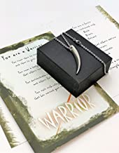 Smiling Wisdom - Warrior Gift Set - Survivor, Courage Strong Strength - Greeting Card Set - Spear Necklace - Great Gift for a Young Adult, Grown Son, Brother, Friend, Man Woman Grad - Stainless Steel