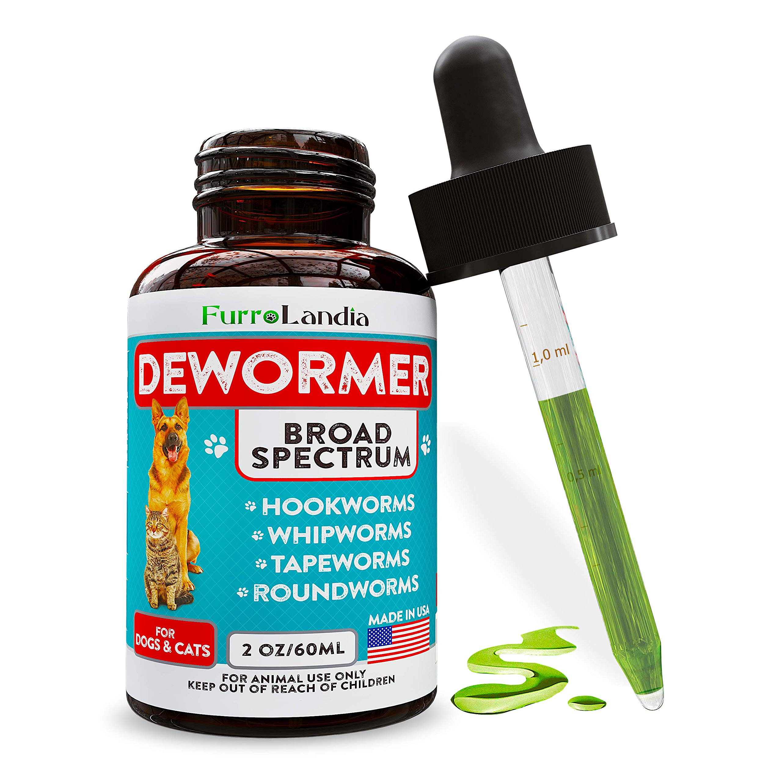 Dewormer Dogs Cats Roundworms Broad Spectrum