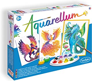 SentoSphere Aquarellum - Mythical Animals - Arts and Crafts Watercolor Paint Set