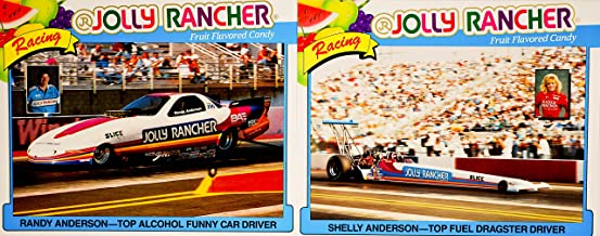 Jolly Rancher Racing 1994 - NHRA/Winston Drag Racing - 2 Hero Cards T/F Dragster : Shelly Anderson/T/A Funny Car : Randy Anderson - Cards 8x10 Inches - Out of Print - Rare - Collectible