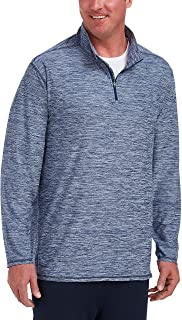 Amazon Essentials Men's Tech Stretch Quarter-Zip, True Blue Space Dye, 5XLT