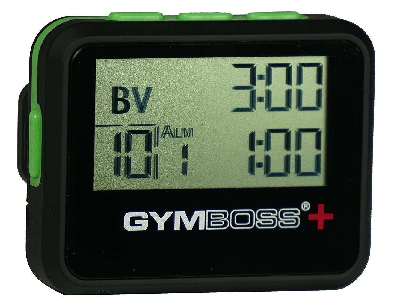 農夫モンスター爆弾Gymboss PLUS インターバルタイマー & ストップウォッチ - ブラック/グリーン ソフトコート