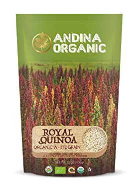 Andina Organic - Pre-Washed Quinoa Organic Gluten-Free | Plant Based Protein | Whole Grain Perfect Substitute for Rice and Pasta | Authentic Royal Quinoa from Farm to Fork (1 Pack)