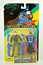 Batman Forever - 1995 - Transforming Bruce Wayne Figure - Body Adaptive Techsuit - Kenner - Limited Edition - Mint - Collectible