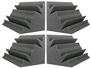 Acoustic Foam Bass Trap Studio Soundproofing Corner Wall 12 X 7 X 7 (4 PACK)?
