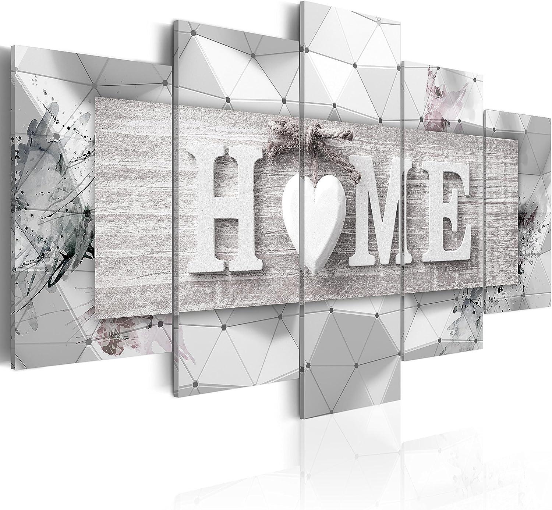 murando Cuadro en Lienzo 200x100 cm Home Impresión de 5 Piezas Material Tejido no Tejido Impresión Artística Imagen Gráfica Decoracion de Pared Tablas 3D m-C-0251-b-n