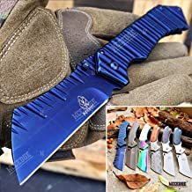 KCCEDGE BEST CUTLERY SOURCE Cleaver Pocket Knife Camping Accessories Razor Sharp Edge Blade EDC Folding Knife Camping Gear Survival Kit 57598