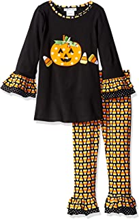 Bonnie Jean Girls' Fall/Holiday Appliqued Dress and Legging Set