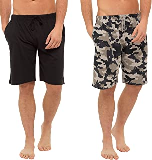 CityComfort Men's Twin Pack Pyjama Bottoms | Pack of Two Cotton Shorts with Elasticated Waist | Soft, Cosy & Comfy Lounge ...