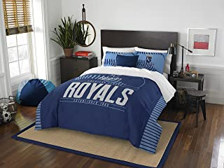 Officially Licensed MLB Full/Queen Grand Slam Comforter & Sham Bedding, Soft & Cozy, Washable, Throws & Bedding, 86