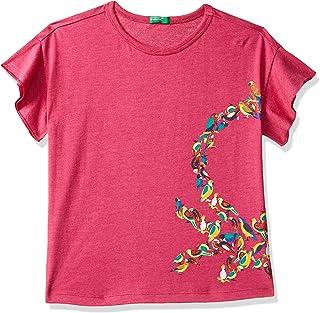 United Colors of Benetton Girl's Plain Regular fit T-Shirt