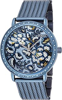GUESS Womens Quartz Watch, Analog Display and Stainless Steel Strap W0822L3 Blue