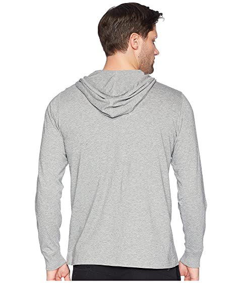 Clearance New Styles Psycho Bunny Long Sleeve Bunny Placket Hoodie Heather Grey Outlet Big Sale Quality aSgqd