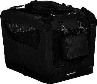 AmazonBasics Premium Folding Portable Soft Pet Dog Crate Carrier Kennel - 21 x 15 x 15 Inches, Black