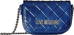LOVE Moschino Embossed Crossbody Chain Strap