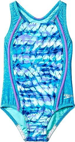Speedo Kids - Tie-Dye Sky Sport Splice One-Piece Swimsuit (Little Kids)