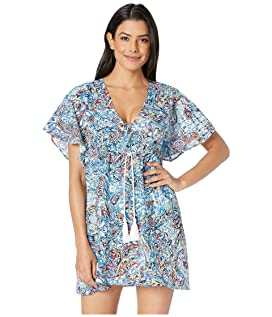 dbdf5b634e Hat Attack Embellished Cover-Up MSRP : $106.00 $74.99 Mystic Paisley  Flutter Sleeve Dress