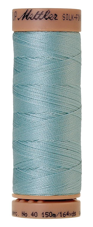 Mettler Silk-Finish 40 Weight Solid Cotton Thread, 164 yd/150m, Rough Sea