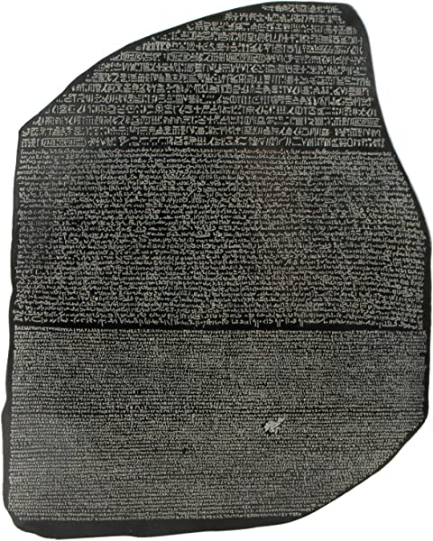 Culture Spot Wall Hanging A Reproduction Of The Rosetta Stone With Stone Finish Ready To Hang Wall Art Relief Suitable For Indoor Use 14 Inches