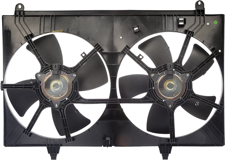 Rare Dorman 620-423 Dual Fan Assembly Infiniti FX35 Japan's largest assortment Black for
