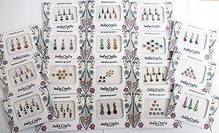 12 Combo Bindi Packs All in One- Multicolored Face Jewels Bindi Stickers Indian Forehead Tika