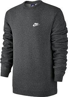 Nike Men's Sportswear Crew Charcoal Heather/White Size Large
