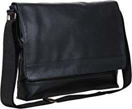 "Kenneth Cole REACTION Strident-class Vegan Leather 15"" Laptop & Tablet Crossbody Messenger Bag for Work, School, Travel"