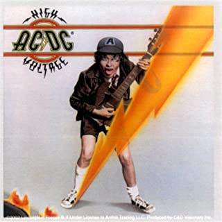 AC/DC - High Voltage Logo with Angus Young - Sticker/Decal