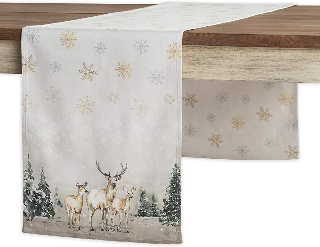 Maison D Hermine Deer In The Woods 100 Cotton Table Runner 14 5 Inch By 72 Inch
