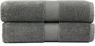 COTTON CRAFT - 2 Pack Luxuriously Oversized Hotel Bath Sheet - Charcoal - 100% Ringspun Cotton - 40x80 - Heavy Weight 700 Grams - 2 Ply Construction - Highly Absorbent - Easy Care Machine Wash
