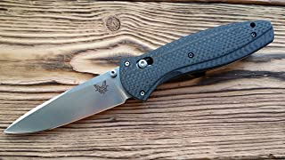 Custome scales, handles for Benchmade Barage 580, 581, Model Gold Classic, Carbon Fiber(Knife not included)