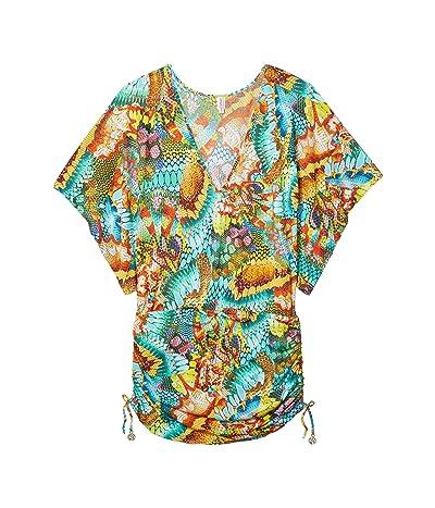 Luli Fama Just Wing It Cabana V-Neck Dress (Multi) Women