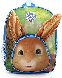 Mochila escolar para niños y niñas con orejas de conejo peludas