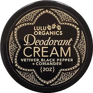 Lulu Organics Deodorant Cream (Vetiver & Black Pepper)