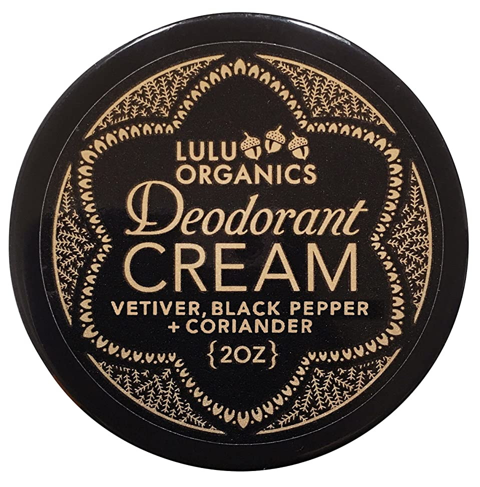 Deodorant Cream Vetiver & Black Pepper by Lulu Organics 2oz