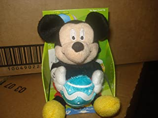Small Plush Easter Mickey Mouse Musical Palm Pal Doll