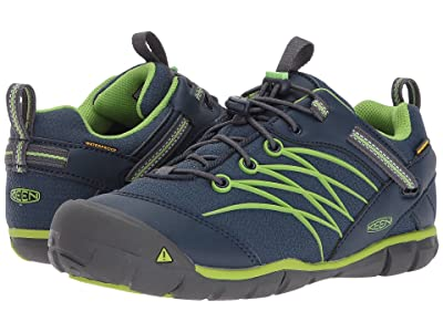 Keen Kids Chandler CNX WP (Toddler/Little Kid) (Dress Blues/Greenery) Boys Shoes