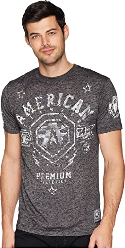 American Fighter Hanover Short Sleeve Tetris Mock Twist Tee
