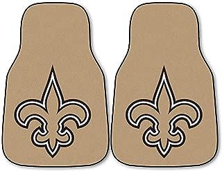 FANMATS NFL New Orleans Saints Nylon Face Carpet Car Mat