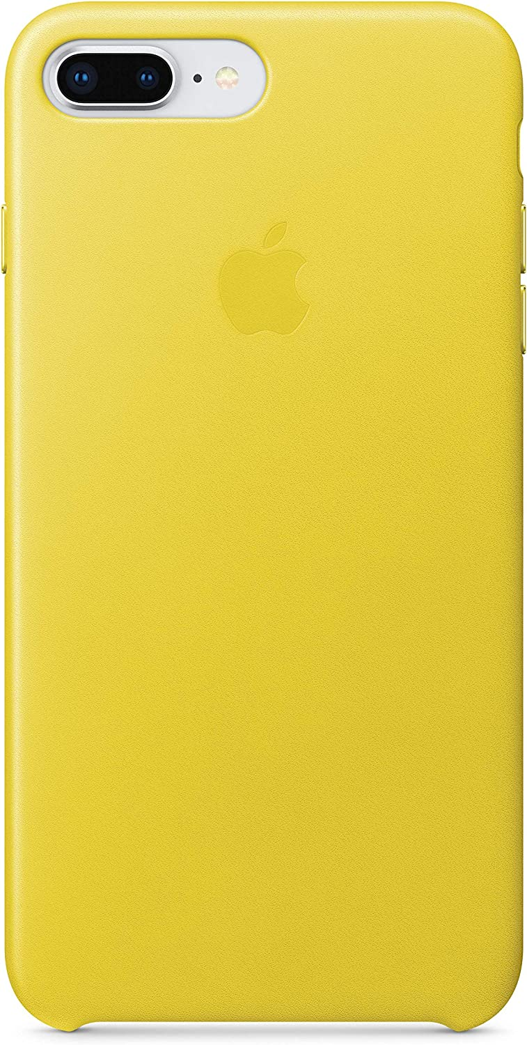 Apple Leather Case (for iPhone 8 Plus/iPhone 7 Plus) - Spring Yellow