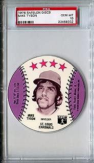 1976 MSA Safelon Sports Discs MIKE TYSON Rare PSA Gem Mint 10 SP St Louis Cardinals / Chicago Cubs