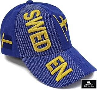 """High End Hats """"Nations of Europe Hat Collection"""" 3D Embroidered Adjustable Baseball Cap Includes 1-Year Warranty"""
