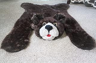 Brown Bear Rug Woodland Nursery Decor Bear Rug Children's Play Mat Bear Rug (33 X 49 Inches) Camping Theme Decoration