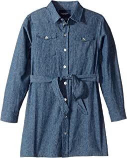 Soft Denim Belted Shirtdress (Toddler/Little Kids/Big Kids)