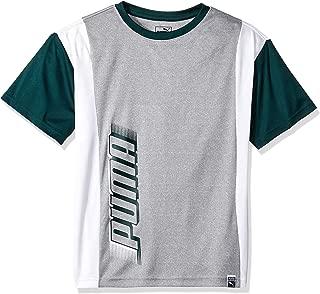 PUMA Boys 91191703FME-P078 Boys' Graphic Tee Short Sleeve T-Shirt - Gray