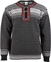 DALE OF NORWAY Men's Setesdal Unisex Sweater F-Black/Off-White X-Small