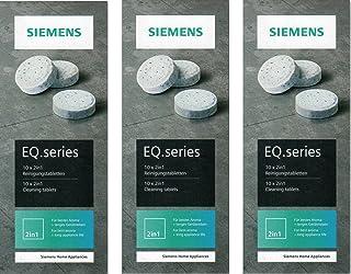 SIEMENS Lot de 3 Lots de 10 tablettes EQ. Série TZ80001 nettoyage pour machines à café automatique